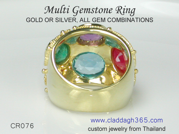 ring with many gems