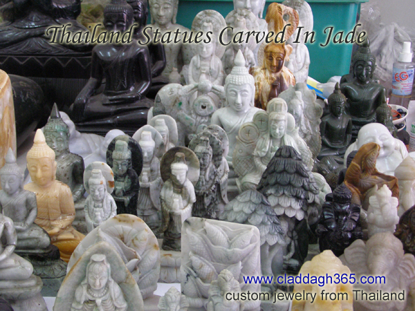 jade carvings buddha statues thailand
