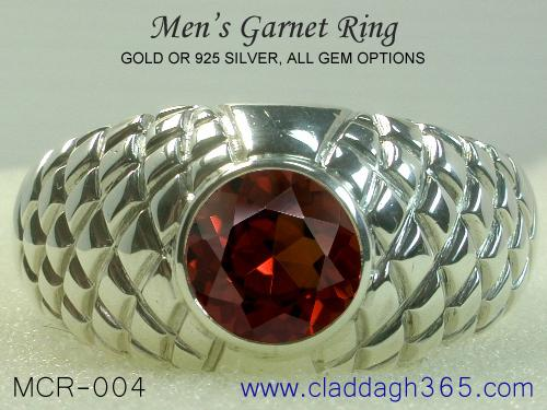 Gold Or Sterling Silver Men S Garnet Ring A Stylish And