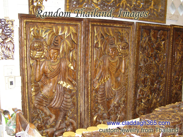 thailand wood carving and more