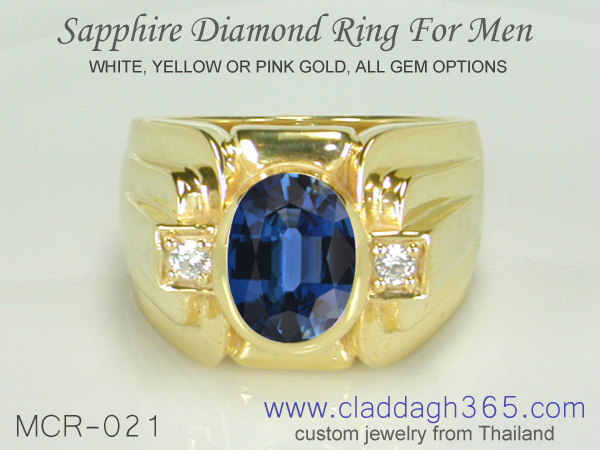 sapphire ring for men